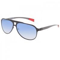 Breed Taurus Titanium and Carbon Fiber Polarized Sunglasses - Brown/Blue BSG005BN
