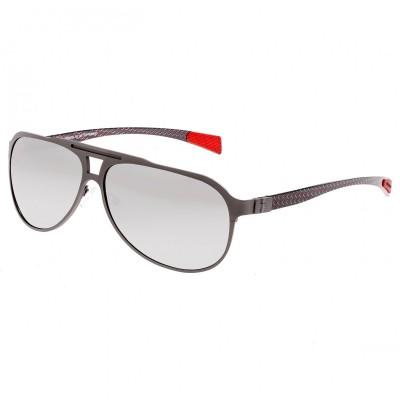Breed Apollo Titanium and Carbon Fiber Polarized Sunglasses - Silver/Gold BSG006SR