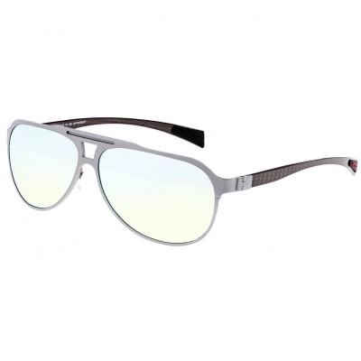 Breed Apollo Titanium and Carbon Fiber Polarized Sunglasses - Gunmetal/Silver BSG006GM