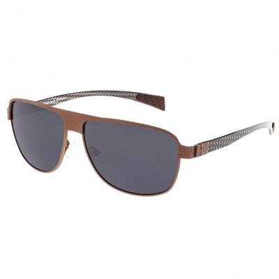 Breed Hardwell Titanium and Carbon Fiber Polarized Sunglasses - Silver/Purple BSG007SR