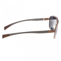 Breed Hardwell Titanium and Carbon Fiber Polarized Sunglasses - Brown/Black BSG007BN