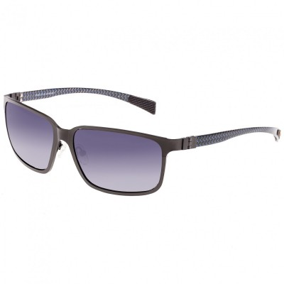 Breed Neptune Titanium and Carbon Fiber Polarized Sunglasses - Black/Black BSG008BK