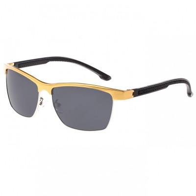 Breed Bode Aluminium Polarized Sunglasses - Black/Black BSG026BK