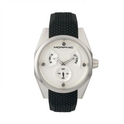 Morphic M34 Series Men's Watch w/ Day/Date - Silver/Black MPH3402