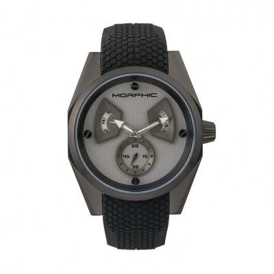 Morphic M34 Series Men's Watch w/ Day/Date - Silver MPH3401