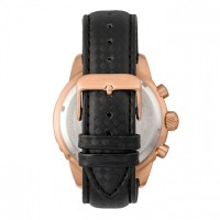 Morphic M51 Series Chronograph Leather-Band Watch w/Date - Rose Gold/Black MPH5103