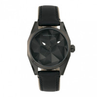 Morphic M59 Series Leather-Overlaid Canvas-Band Watch - Silver MPH5901