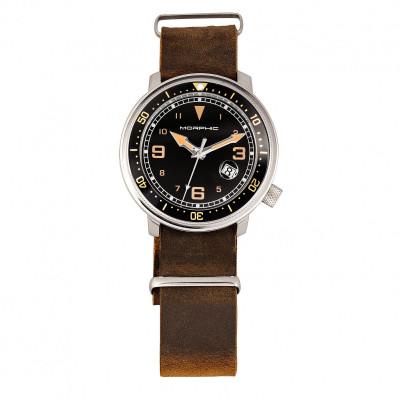 Morphic M74 Series Bracelet Watch w/Magnified Date Display - Gunmetal/Black & Silver/Brown MPH7407