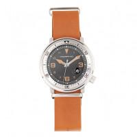 Morphic M74 Series Bracelet Watch w/Magnified Date Display - Gunmetal/Silver/Brown MPH7402